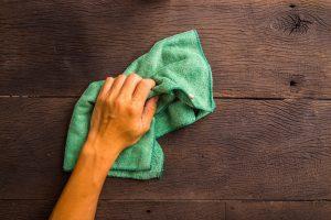 wiping the floor